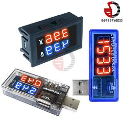 "0.56"" LED Digital Voltmeter Ammeter DC 100V 10A Current Volt"