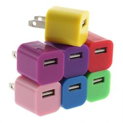10-Pack USB Charging Cube Wall Charger Power Adapter For iPh