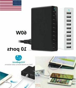 10 port fast usb charging station power