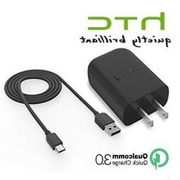 HTC 10 Rapid Charger + USB Type-C Cable 18W Quick Charge 3.0