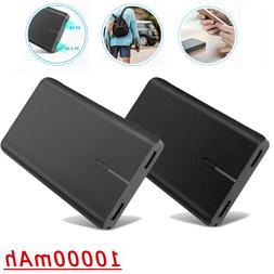 10000mAh Portable Power Bank Dual USB Fast External Battery