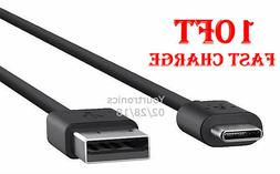 10FT Type C Fast Charging Cable USB-C Rapid Cord Power Charg
