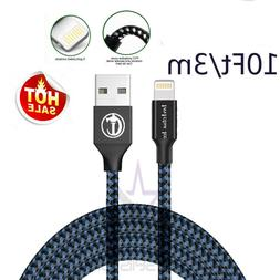 10FT/3M For iPhone 6 iPhone 7 Plus 8 X USB Charger Cable Cha