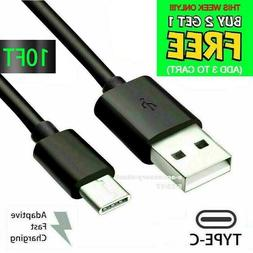 10FT Type USB-C to USB-A Fast Charge Cable Cord Quick Charge