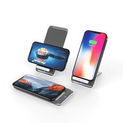 10W Fast Qi Wireless Charger Pad Stand iPhone X/8/8+ Galaxy