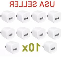 10x USB Wall Charger Power Adapter AC Home US Plug FOR iPhon