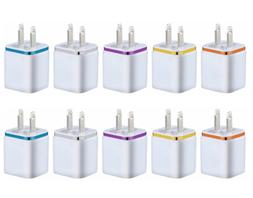 10x Double USB Wall Fast Charger Adapter 1A 2A 5V For Androi