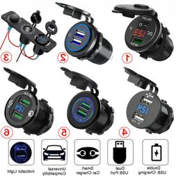 12V Car Cigarette Lighter Socket Dual USB Port Charger Power