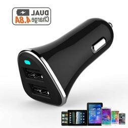 12V Dual USB Car Charger 4.8 Amp High Speed Fast For Phone i