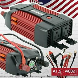 Audiotek 1500W Watt Power Inverter DC 12V AC 110V Car Conver