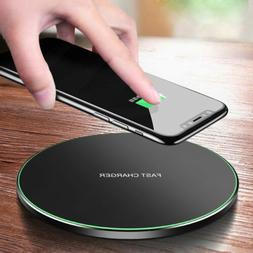 15W/10W Metal Qi Wireless Charger Fast Charging Mat For iPho
