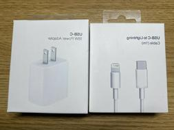18w Charger USB-C Power Adapter adn Cable for APPLE Fast iPh