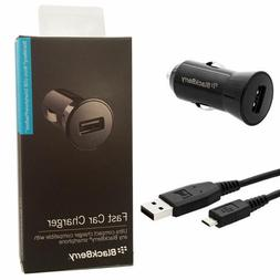 Blackberry 1A Travel Car Adapter + Micro USB Cable AC Univer