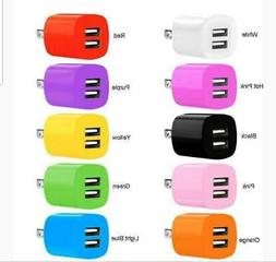 2.1A/1A Dual 2 Port USB Portable Travel AC Plug Wall Power A