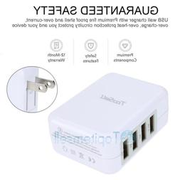 2.1A 4 in 1 Port USB Portable Home Travel Wall Charger US Pl