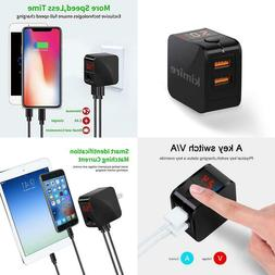 2.4A Dual Usb Port Fast Quick Charger Wall Charger Kimire Di