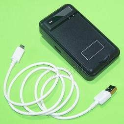 2 Accessory Travel Wall Battery Charger USB Cable for LG G S