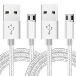 2-Pack Micro USB Cable Fast Charge Data Sync Charger Cord Fo