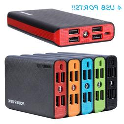 20000mAh 4 USB External Power Bank Portable LCD LED Charger