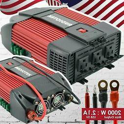 2000w watt power inverter dc 12v ac