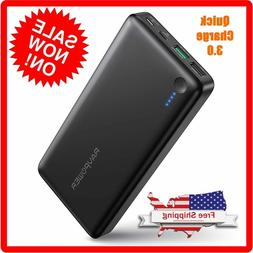 RAVPower 20100mAh Battery bank USB C Portable Charger w/ Qui