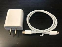 20w iphone charger fast usb cable