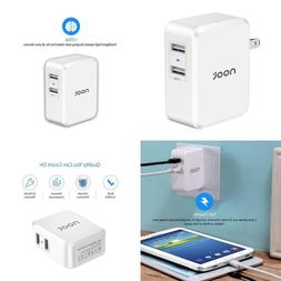 Noot Products 24W 4.8A Dual USB Wall Charger with i-DTek Tec