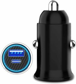 24W Fast Charging Car Charger USB Type-C PD Quick Charger +