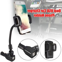 2A Dual 2 USB Ports Car Cigarette Lighter Charger Mount Hold