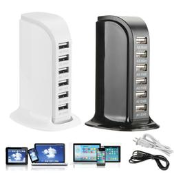 2X 6 Port USB Home Travel Wall AC 110V Charger Fast Charge P
