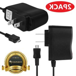 2X AC Wall Micro USB Cable Charger Adapter Plug for Samsung
