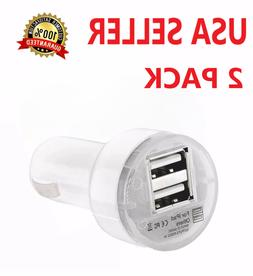 2X Dual USB Car Charger 2.1 Amp High Speed Fast For Phone iP