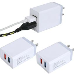 2X USB Double Wall Fast Charger Adapter 2.4A 5V  For Android