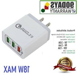 3.1 Amp Quick Fast Charger 3-USB Port for Samsung Galaxy S6,