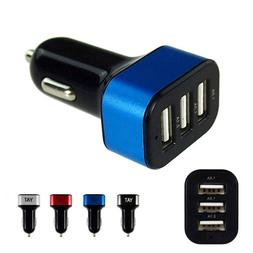 3.1A Triple Port Car Charger USB Adapter Fast Charging Vehic