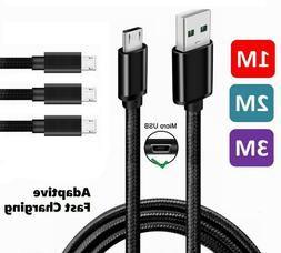 3/6/10Ft Micro USB 3.0 Fast Charger Data Sync Cable Cord Sam