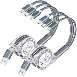 3 in 1 Charging Cable Retractable Multi Type C/Lightning/Mic