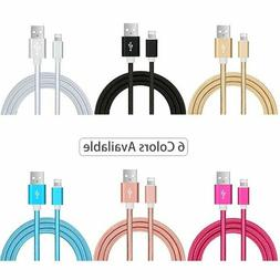 3-PACK 10FT USB Data Charging Charger Cables Cords For Apple