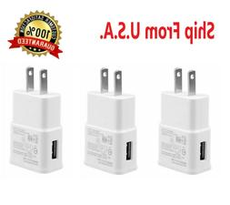 3-Pack 2AMP USB POWER ADAPTER WALL CHARGER For Universal SAM