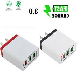 3 Port Fast Quick Charge QC 3.0 USB Hub Wall Charger Power C