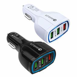 3-Port Qualcomm Fast Car Charger for iPhone & Android - 7 Am