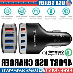 4-Port USB 4.2A Fast Car Charging Adapter Quick Charger for