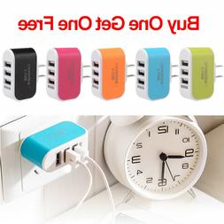 3 Port USB Wall Charger Station Travel AC Power Adapter for