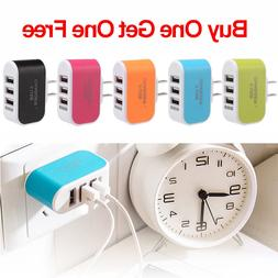 3 port usb wall charger station travel