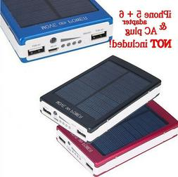 30000mAh Dual USB Portable Solar Battery Charger Power Bank