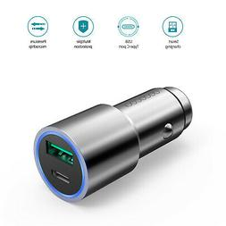 dodocool 33W Dual Port Car Charger with QC3.0 USB-A & USB-C