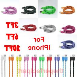 For iPhone 7 8 11 Plus XS XR Lightning Charger Cable 3/6/10F