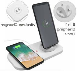 3in1 Wireless Charger Pad+Micro USB,Type C Charging Dock Sta