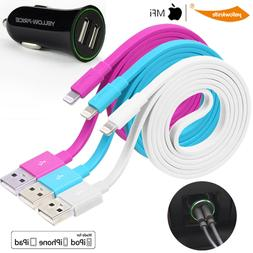 3X Apple Licened Flat USB Data Sync Charge Cable Cord iPhone