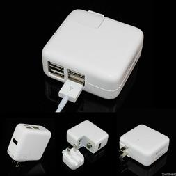 4 Multi-Port USB Wall Charger 12W Power Adapter LED Charging
